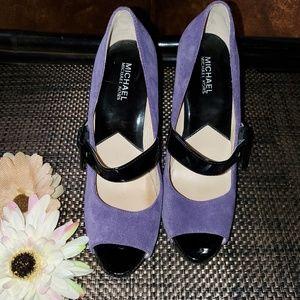 Purple Suede Mary Jane Heels